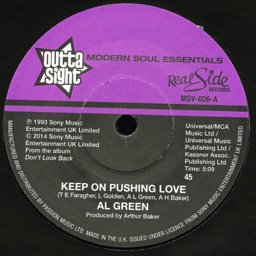 Al Green Keep On Pushing Love