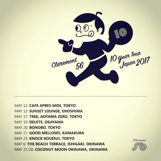 Claremont Japan Tour poster_1275