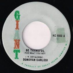 MFD Donovan Careless - Be Thankful