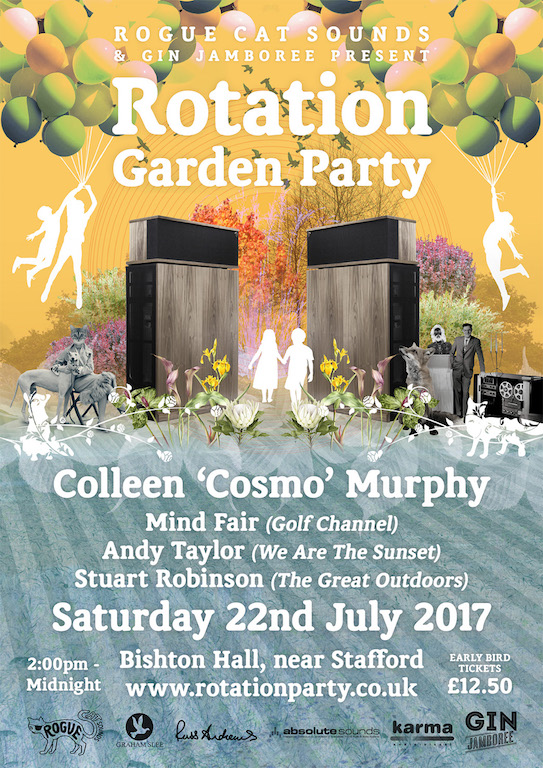 mind fair 3rd annual garden party poster