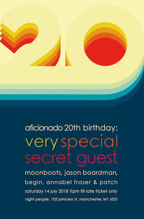 Aficionado Twenty Years Poster Detail
