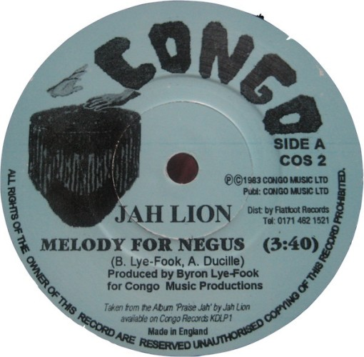 jah lion melody for negus