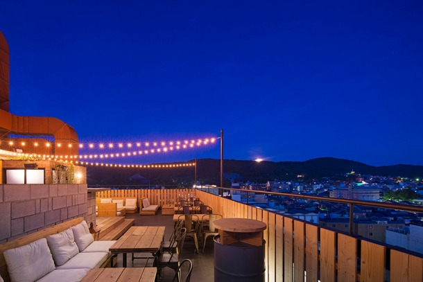 Kyoto rooftop bar In The Moon