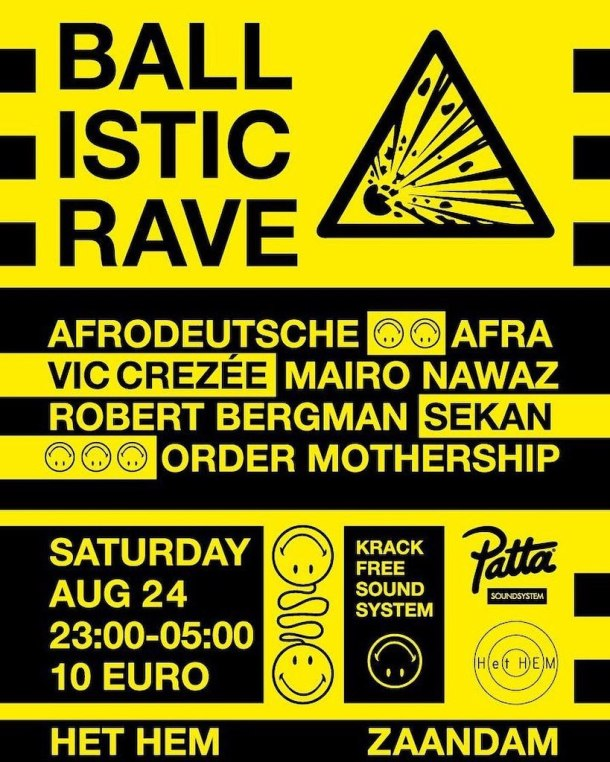 dynamic range ballistic rave poster
