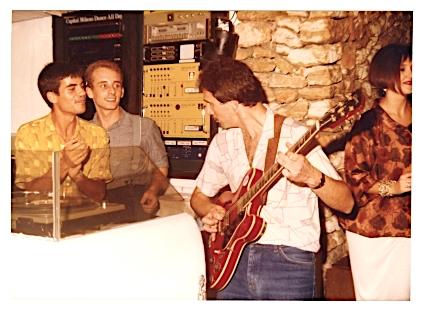 Con Pippi, Pete Tur a la guitarra y mi primera mujer, Magdalena. copy