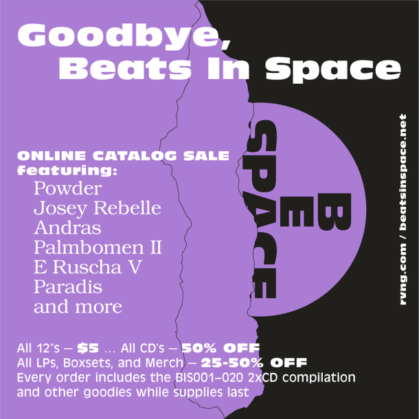 Beats In Space Closing Sale Poster