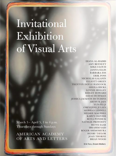 Erik Foss American Academy Of Arts And Letters Poster